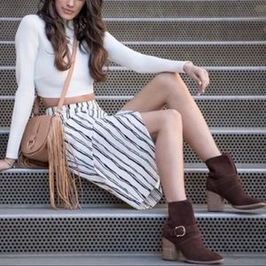 Isola Lavoy Boots Booties Coffee Cow Suede 8 Brown